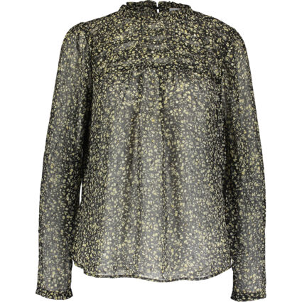Black & Yellow Patterned Blouse