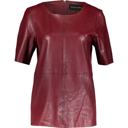 Red Leather T Shirt