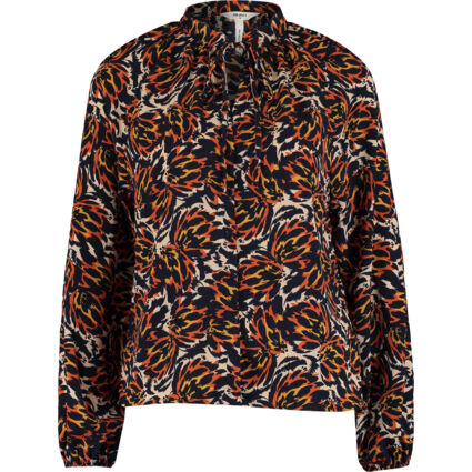Multicolour Abstract Pattern Blouse