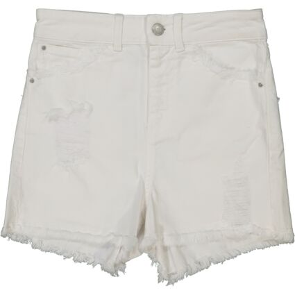 White Distressed Shorts