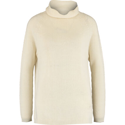 Pale Yellow Knitted Roll Neck Jumper