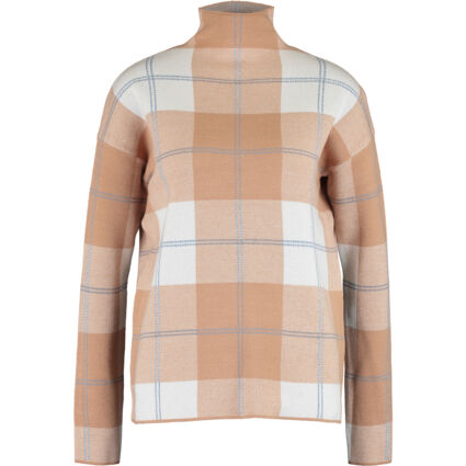 Camel & White Patterned Jumpers
