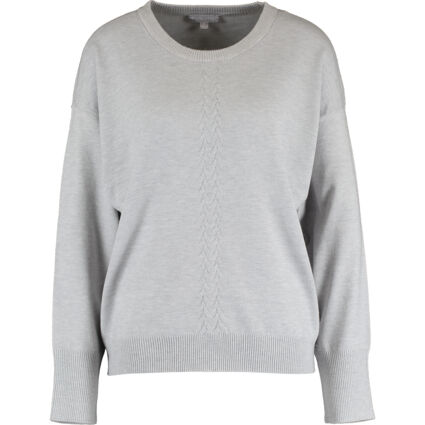 Heather Grey Cable Jumper