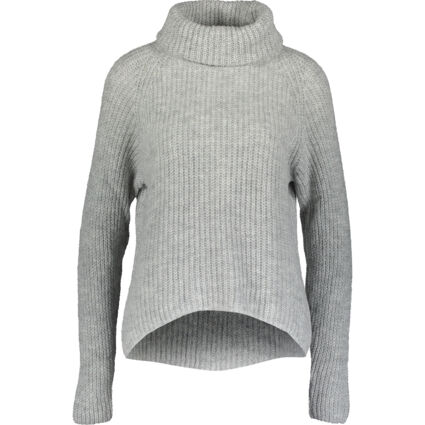 Grey Knitted Turtle Neck Jumper