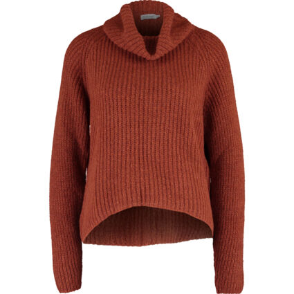 Red Turtle Neck Knitted Jumper