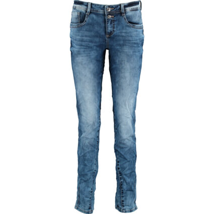 Blue Branded Straight Jeans