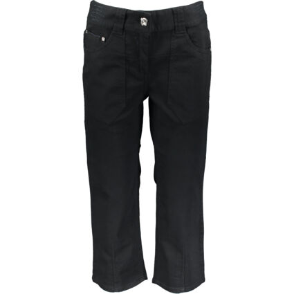 Black Gaucho Cropped Jeans