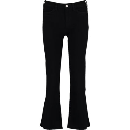 Black High Rise Cropped Bell Jeans