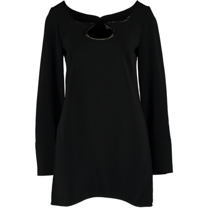 Black Abstract Neck Detailed Dress