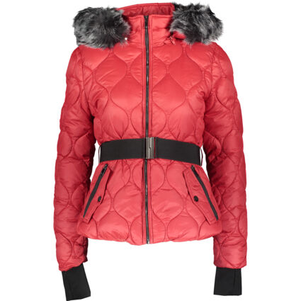 Red Belted Padded Jacket