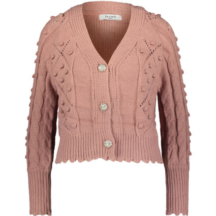 Pink Pointelle Knitted Cardigan