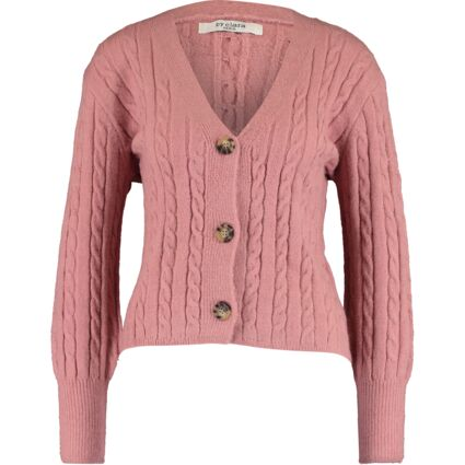 Pink Twisted Cable Cardigan