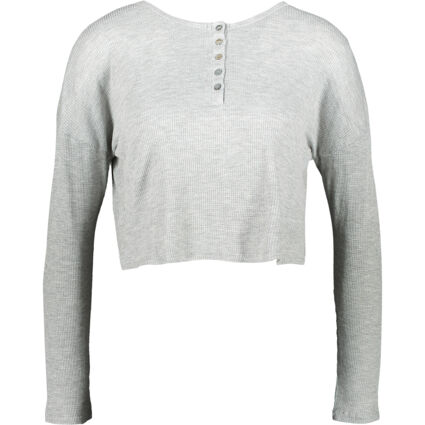 Heather Grey Buttoned Soft Top