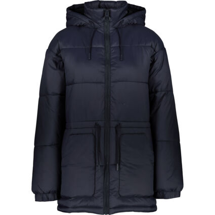 Navy Puffer Hooded Jacket