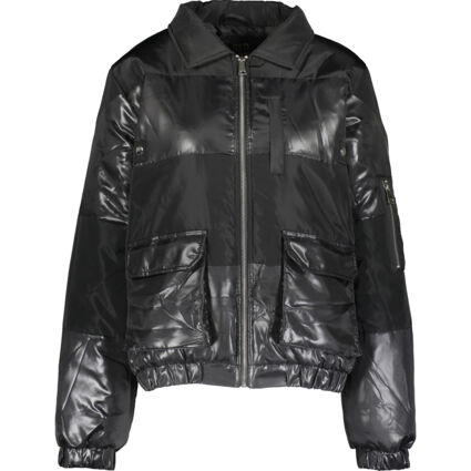 Black Quilted Puffier Jacket