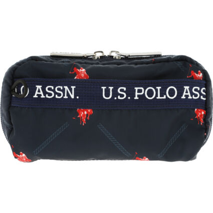 Navy Branded Small Cosmetic Bag