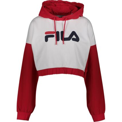 White, Red & Navy Branded Hoodie