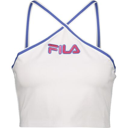 White Crossover Strap Crop Top