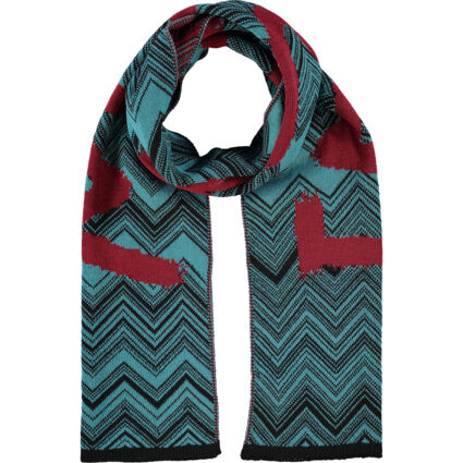 Red & Green Wool Branded Scarf