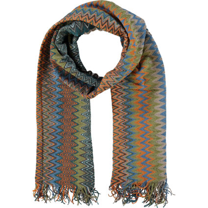 Multicoloured Patterned Scarf