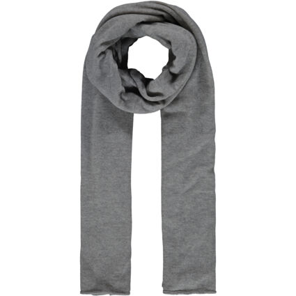 Light Grey Cashmere Knitted Scarf