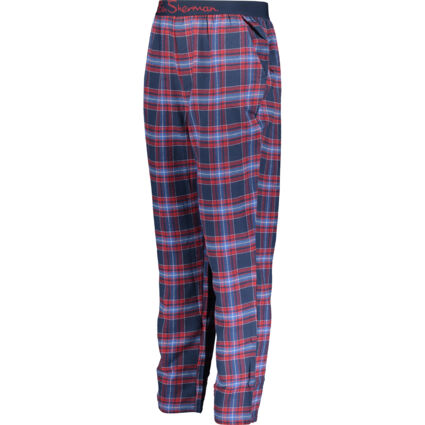 Blue & Red Checked Patterned Loungewear