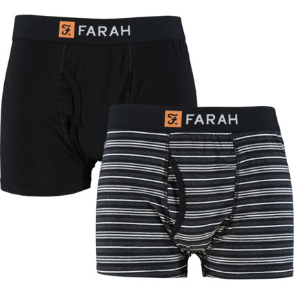 Two Pack Black & Grey Branded Boxers