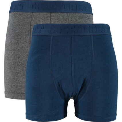 Two Pack Navy & Charcoal Bamboo Boxers