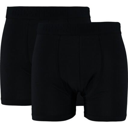 Two Pack Black Bamboo Boxers