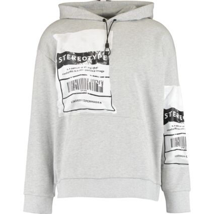 Grey Stereotype Graphic Hoodie