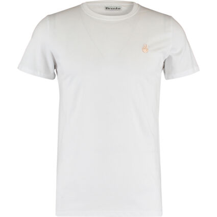 White Peace Embroidery T Shirt