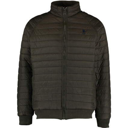 Army Green Raglan Quilted Jacket