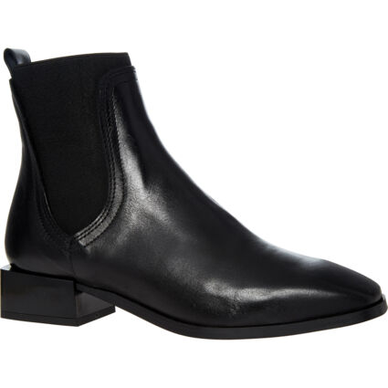 Black Leather Roy Boots