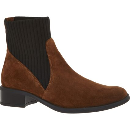 Brown Suede Wonka Ankle Boots