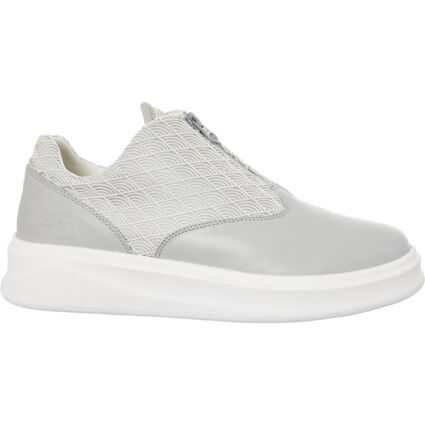 Grey & White Patterned Trainers