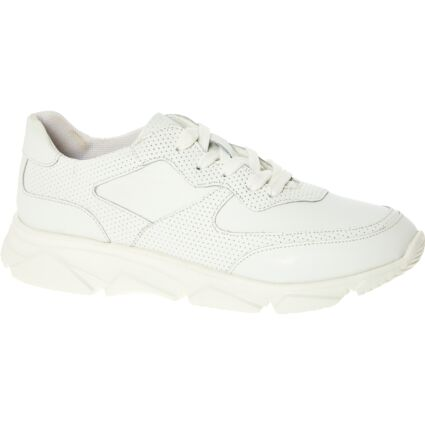 White Leather Chunky Sole Trainer