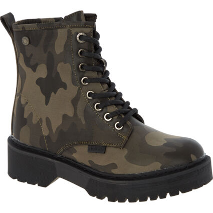 Green Camo Ankle Boots