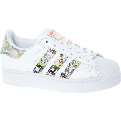 White Superstar Leather Trainers