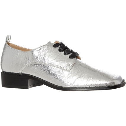 Silver Creased Argent Shoes