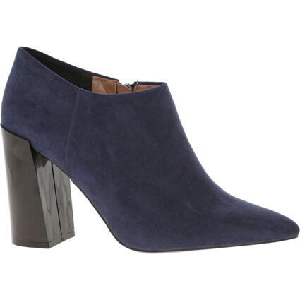 Navy Heeled Ankle Boots