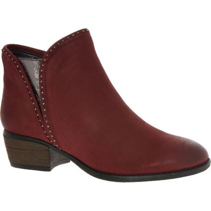 Red Leather Benny Ankle Boots