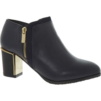 Navy Reptile Effect Chloe Boots