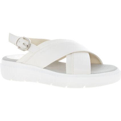 White Buckled Flat Sandals