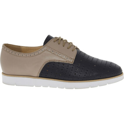 Colour Block Leather Brogues