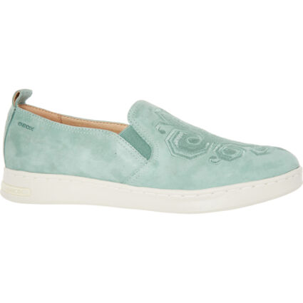 Blue Suede Slip On Shoes