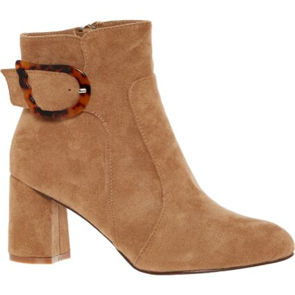 Camel Heeled Ankle Boots