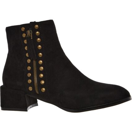 Black Studded Mandy Ankle Boots