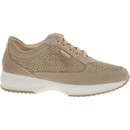 Taupe Suede Trainers