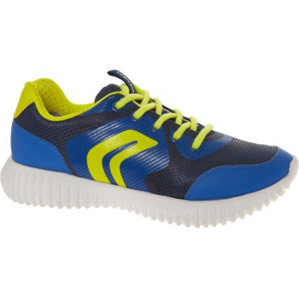 Blue & Lime Low Cut Trainers