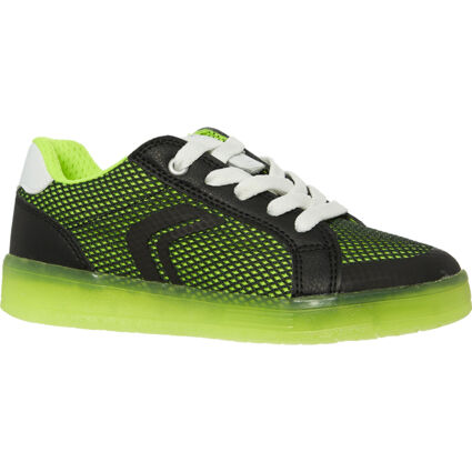 Black & Green Light Up Trainers